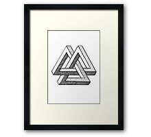 Impossible Triangles Framed Print