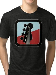 Cool Bass Guitar Sign Tri-blend T-Shirt