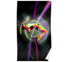 High jump in space Poster