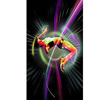 High jump in space Photographic Print