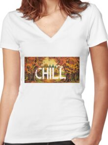 Chill Women's Fitted V-Neck T-Shirt