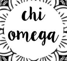 Chi Omega Mandala Sticker
