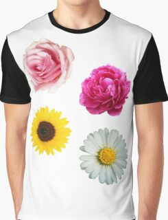 Flowers Set Graphic T-Shirt