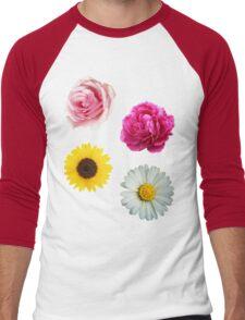 Flowers Set Men's Baseball ¾ T-Shirt
