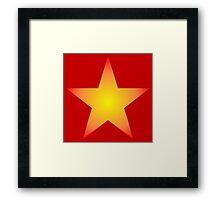 Glowing Star Framed Print