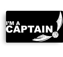 I'm a Captain - White ink Canvas Print