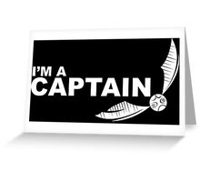 I'm a Captain - White ink Greeting Card