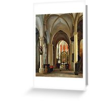 Pierre-Justin Ouvrié - Prayers at the Altar  Greeting Card
