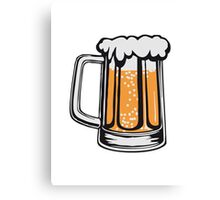 Drinking beer thirst handle booze Canvas Print