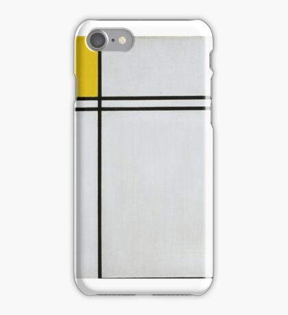 Piet Mondrian Dutch,  Composition with Double Line and Yellow  iPhone Case/Skin