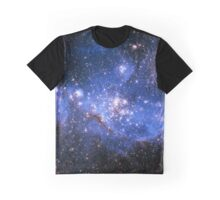 Blue Embrionic Stars Graphic T-Shirt