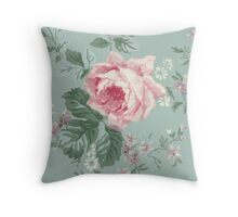 French Chic Vintage Roses Throw Pillow
