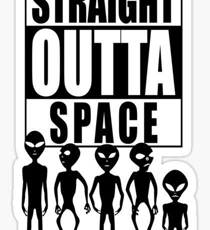 Straight outta space Sticker
