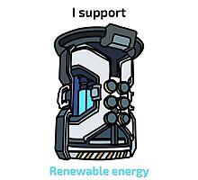 I Support Renewable Energy Photographic Print