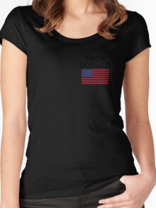 Fuck Donald Trump  Women's Fitted Scoop T-Shirt