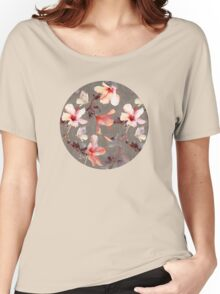 Coral Hibiscus Women's Relaxed Fit T-Shirt