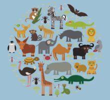 African animals Kids Tee