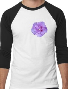 Purple hibiscus flower Men's Baseball ¾ T-Shirt