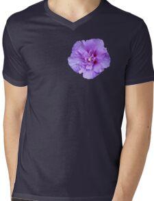 Purple hibiscus flower Mens V-Neck T-Shirt