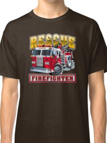 Vector Cartoon Fire Truck Classic T-Shirt