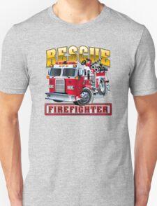 Vector Cartoon Fire Truck Unisex T-Shirt