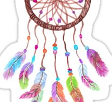 Hand Painted Watercolor Dreamcatcher Beads Feather Sticker
