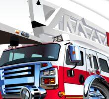 Cartoon Fire Truck Sticker