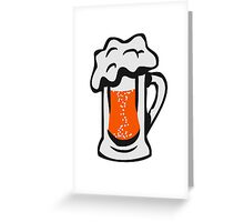 Drinking beer thirst handle Greeting Card