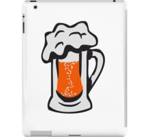 Drinking beer thirst handle iPad Case/Skin