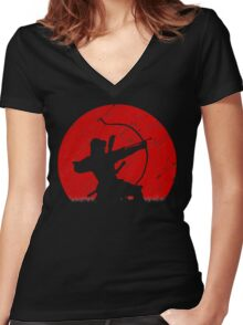 Oni Under Fire Women's Fitted V-Neck T-Shirt