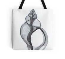 X-Ray Shell (india ink - vertical) Tote Bag