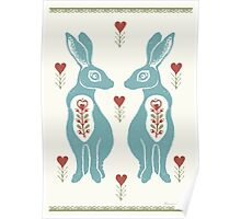 Folk Hare Love Poster