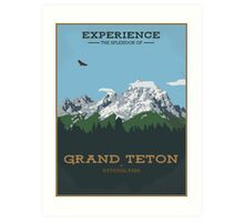 Grand Teton (Portrait) Art Print