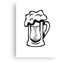 Drinking beer thirst handle Canvas Print