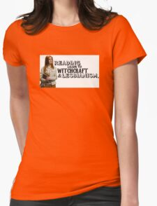 Reading leads to lesbianism Womens Fitted T-Shirt
