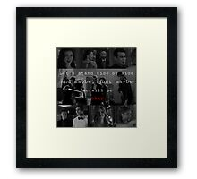 Shadowhunters - Side by side  Framed Print