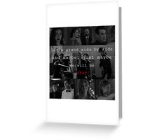 Shadowhunters - Side by side  Greeting Card