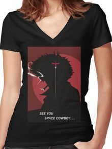 See You Space Cowboy - Spike Women's Fitted V-Neck T-Shirt