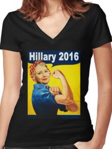 hillary clinton 2016 Women's Fitted V-Neck T-Shirt