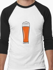 Beer drinking beer glass Men's Baseball ¾ T-Shirt