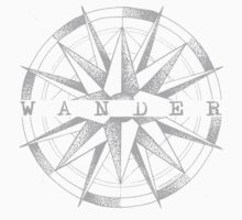 Wander - II - Light grey  Kids Tee