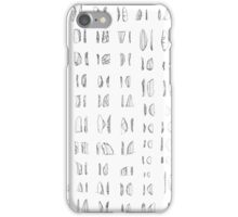 Palaeolithic Stone Tool Illustrations - South Africa iPhone Case/Skin