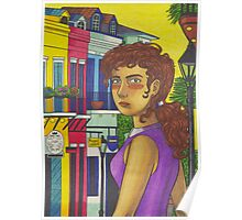 Sunny Day in New Orleans Poster