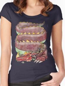 Musical Dragon  Women's Fitted Scoop T-Shirt