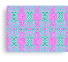 Pink and Green Abstract Print Canvas Print