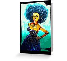NICOLE: KINDA BLUE Greeting Card