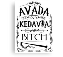 Avada Kedavra Harry Potter Canvas Print