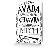 Avada Kedavra Harry Potter Greeting Card