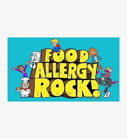 Food Allergy Rock ! Photographic Print