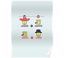 Lego and Maths Poster